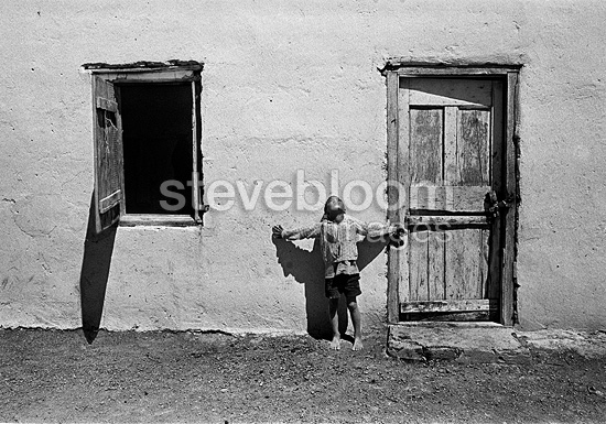 Farm worker's child, Karoo, 1976, South Africa