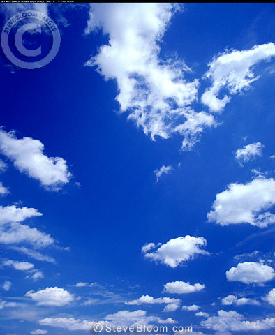 White clouds and blue sky, Africa