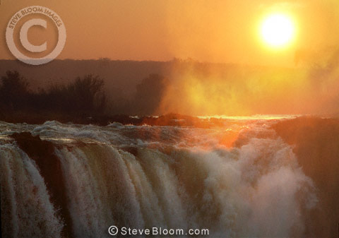 Sunrise over Victoria Falls, Zimbabwe
