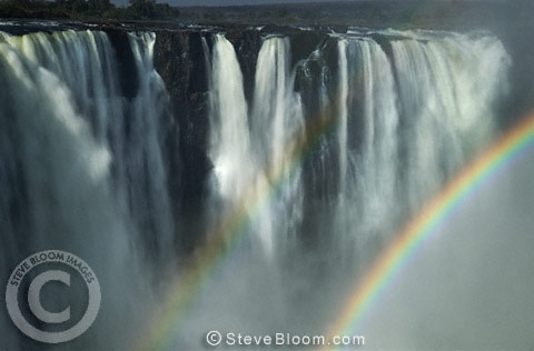 Double rainbow at Victoria Falls, Zimbabwe