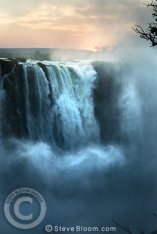 Sunrise at Victoria Falls, Zimbabwe