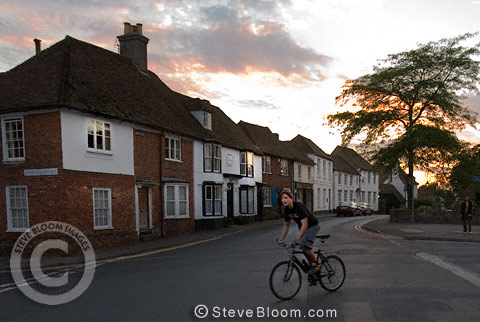 High Street, village of Wye, Kent, UK
