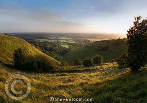 The Devils Kneading Trough, North Downs, near Wye and Brook, Kent