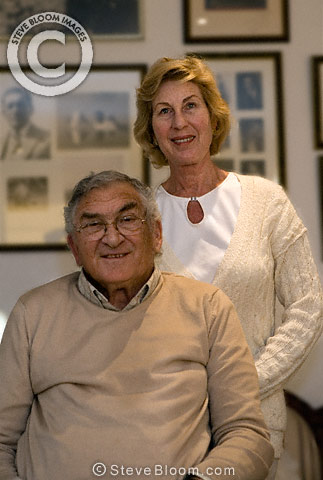 Ernie Brenner, quadriplegic as a result of being shot during an armed robbery at his motor business, and wife Eleanor, Johannesburg, South Africa