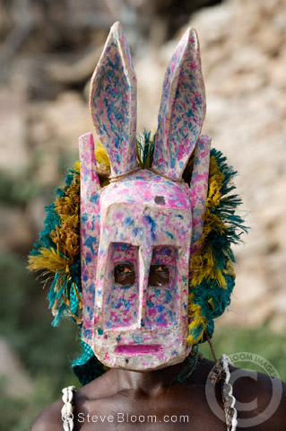Dogon masked warrior, Dogon Country, Mali