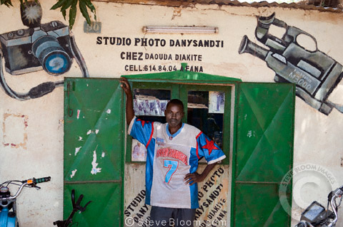 A photography shop between Ségou and Bamako, Mali