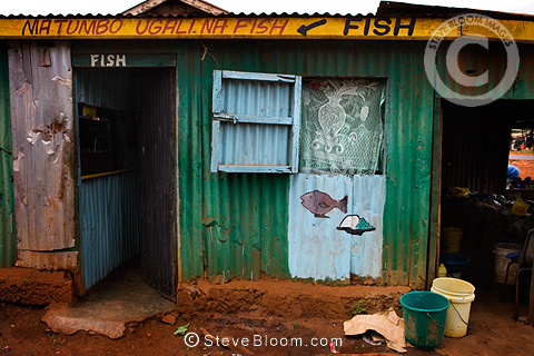 Fish shop, Nairobi, Kenya.
