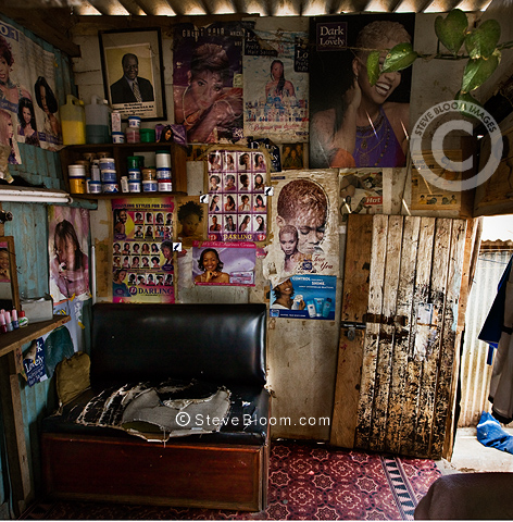 interior of beauty hair salon nairobi kenya