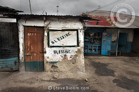 Shop with the slogan 'Blessing', Nairobi, Kenya.