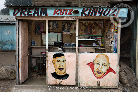 Dream Kutz Kinyozi (Dream cuts barber), Nairobi, Kenya.