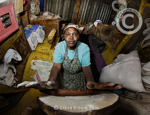 Esther Waithira of the Half-London greengrocer, Nairobi, Kenya.