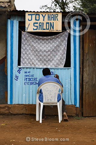 Joy Hair Salon, Nairobi, Kenya.