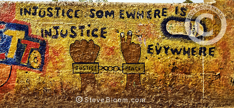 'Injustice somewhere is injustice everywhere' - mural in Nairobi, Kenya