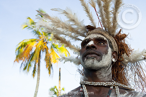 Man from the Asmat Tribe, Agats village, New Guinea, Indonesia.