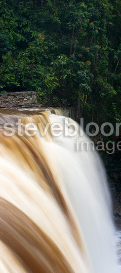 Maliau Falls (6th tier) on the Maliau River. Centre of Maliau Basin - Sabah's 'Lost World' - Borneo.