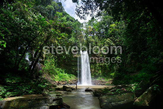 Ginseng Falls on a tributary of the Maliau River. Centre of Maliau Basin - Sabah's 'Lost World' - Borneo.