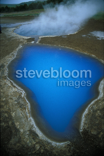 Aerial view of hot springs, Gullfoss, Iceland