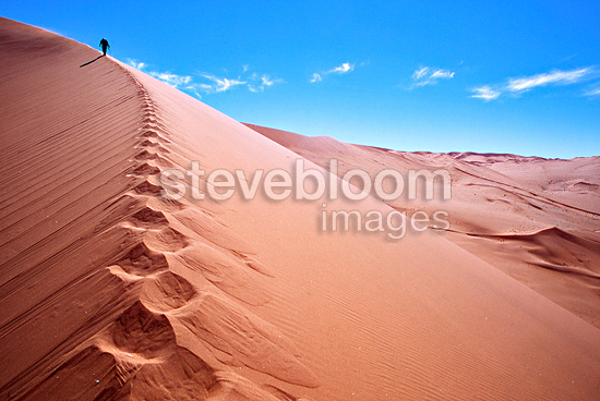Rise of dunes in the desert of Namib Namibia
