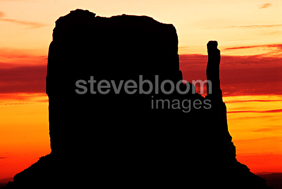 Monument Valley at twilight Arizona USA