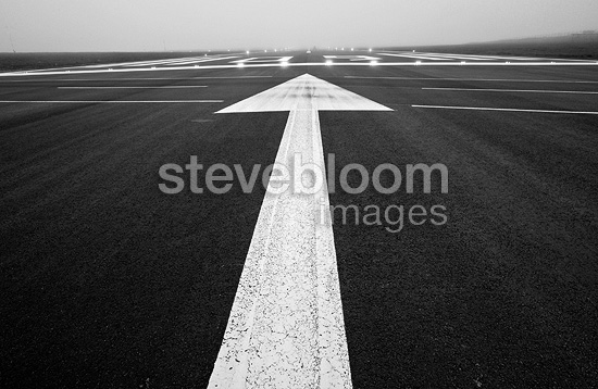 Runway of Sumburgh airport Shetland