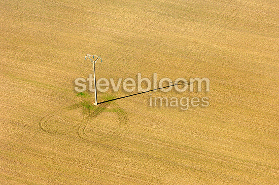 Fields Cereals harvested Centre France