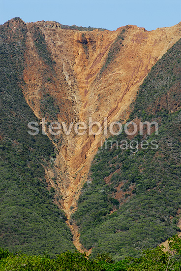 Erosion of a mountainside due to nickel mining New Caledonia