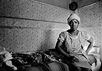 Woman at home, Crossroads Squatter Camp, 1977, South Africa