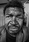 Homeless man ('Bergie'), Cape Town, 1975, South Africa