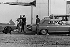 Homeless person ('Bergie') being arrested, Cape Town 1976, South Africa