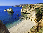Empty beach, Algarve, Portugal