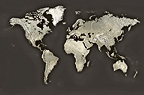 Map of the world. Illustration.