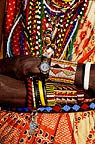Maasai man in traditional dress wearing watch, Kenya