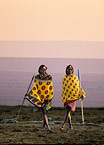 Maasai herders at dawn, Kenya