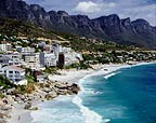 Clifton beach with the Twelve Apostles, Cape Town, South Africa