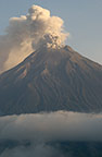 Tungurahua Active Volcano (5016m), seen from Cotalo Road, Andes, Ecuador, South America