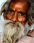 Portrait of a man, Varanasi, India