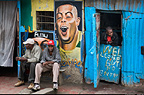 Shop front (Wellcome but no entry), outskirts of Nairobi, Kenya