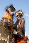 Turkana tribal dancing, Northern Kenya