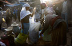 Scene in a street market, Addis Ababa, Ethiopia, Africa