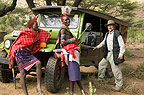 Steve Bloom with Samburu people, Kenya