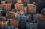 Aerial view of Hillbrow, Johannesburg, in the early morning, South Africa