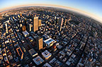 Aerial view of Johannesburg in the early morning, South Africa