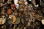 Decorative African masks for sale in a Johannesburg market, South Africa