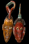 Decorative African masks