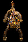 African carved figurine with beads