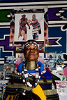 Ndebele artist, Esther Mahlangu, South Africa.