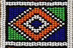 Detail of Ndebele beadwork, South Africa.