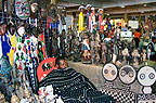 Stall selling African masks, Indoor market, Johannesburg, South Africa