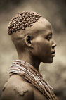 Woman of the Hamar tribe, Omo Delta, Ethiopia
