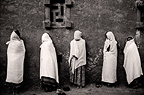 Pilgrims to the holy city of Lalibela, Ethiopia